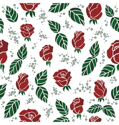 Seamless background with roses vector