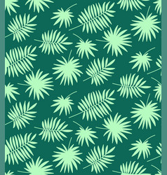 seamless pattern made of palm leaves vector image
