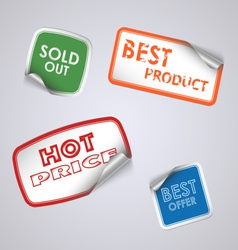 Set of colored rectangle stickers vector image