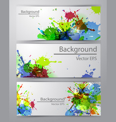 set of four banners vector image