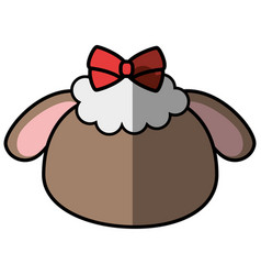 sheep faceless cartoon vector image