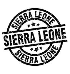 sierra leone black round grunge stamp vector image