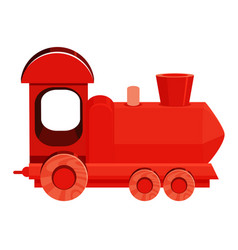 Single picture red train on white background vector