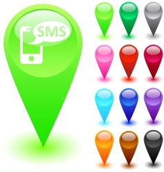 SMS button vector