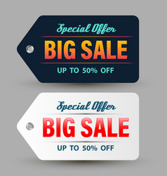 special offer big sale banner dark and white vector image