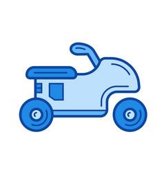 sport bike line icon vector image