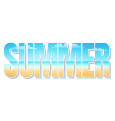 summer sale time vector image