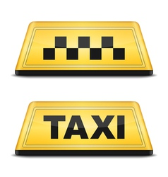 Taxi Sign vector