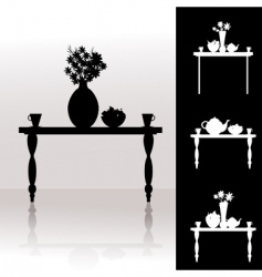 tea table vector image
