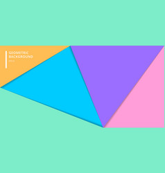 template banner website layered colorful paper vector image