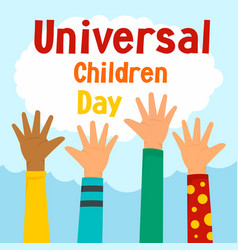 universal children day concept background flat vector image