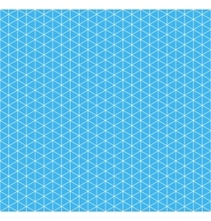 White isometric grid on cyan background seamless vector image