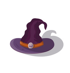 Witch hat isolated cartoon icon vector