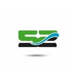 52th Year anniversary design logo vector image