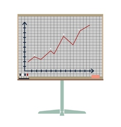 Board for presentations vector image