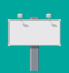 empty big board or billboard with lamp vector image