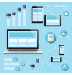 Responsive web-design infographics concept vector image vector image