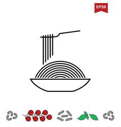 Spaghetti or noodle icon vector