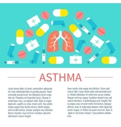 Asthma poster with place for text vector image vector image