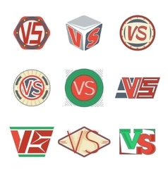 Color versus logos VS letters signs vector image