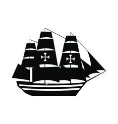 Columbus ship icon vector