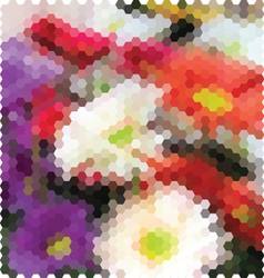 Mosaic background flowers vector image
