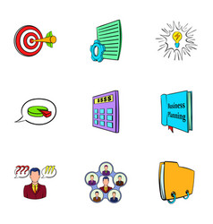 office icons set cartoon style vector image vector image