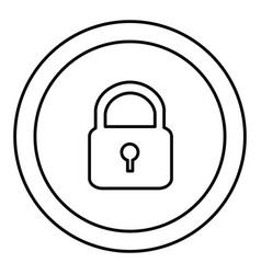 round symbol padlock closed icon vector image