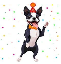 Boston terrier party vector
