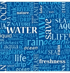 Seamless water tags cloud vector image