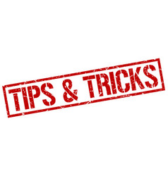 tips tricks stamp vector image vector image