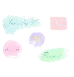 Abstract logo design templates Pastel hand vector image vector image