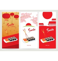 Banner sushi vector image