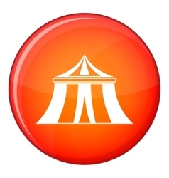 Circus tent icon flat style vector image