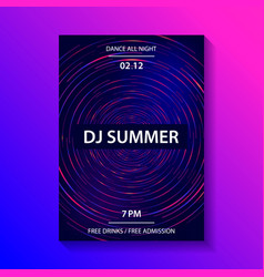 club music party poster vector image