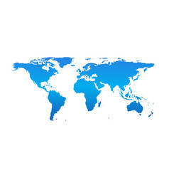 detail world map isolated on white background vector image vector image