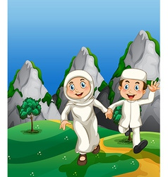 Muslim and park vector image vector image