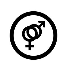 outlines icons of gender male and female symbols vector image vector image