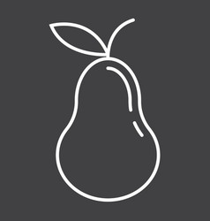 Pear line icon fruit and diet graphic vector
