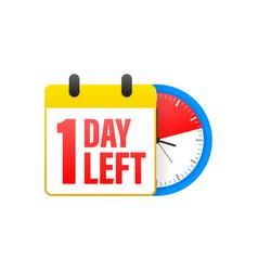 1 day left calendar clock icon symbol vector