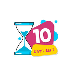 10 days left - colorful geometric countdown vector