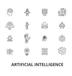 artificial intelligence robot computer brain vector image