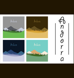 Assembly of flat icons on theme of andorra vector