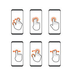 basic human gestures using modern digital devices vector image
