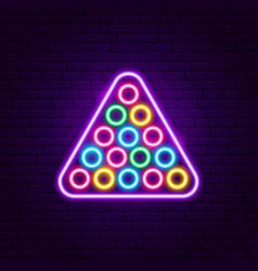 billiards neon sign vector image