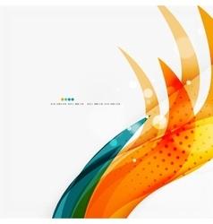 Blue orange red swirl wave lines Light design vector image