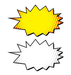 boom blank comic bubble vector image