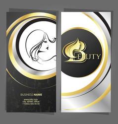 Business card hair stylist hair and body care vector