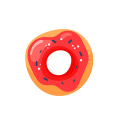 cartoon delicious donut vector image