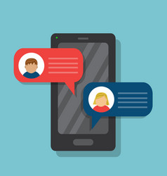 cell phone communication vector image